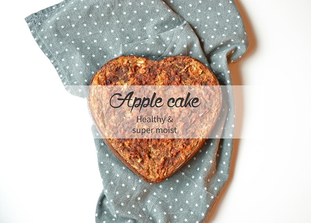 Healthy & super moist apple cake