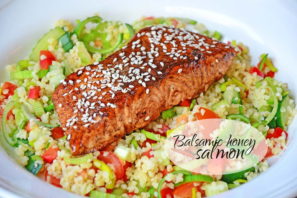 Balsamic honey salmon