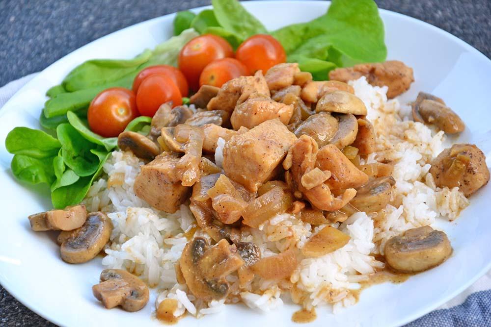 Dijon mushroom chicken