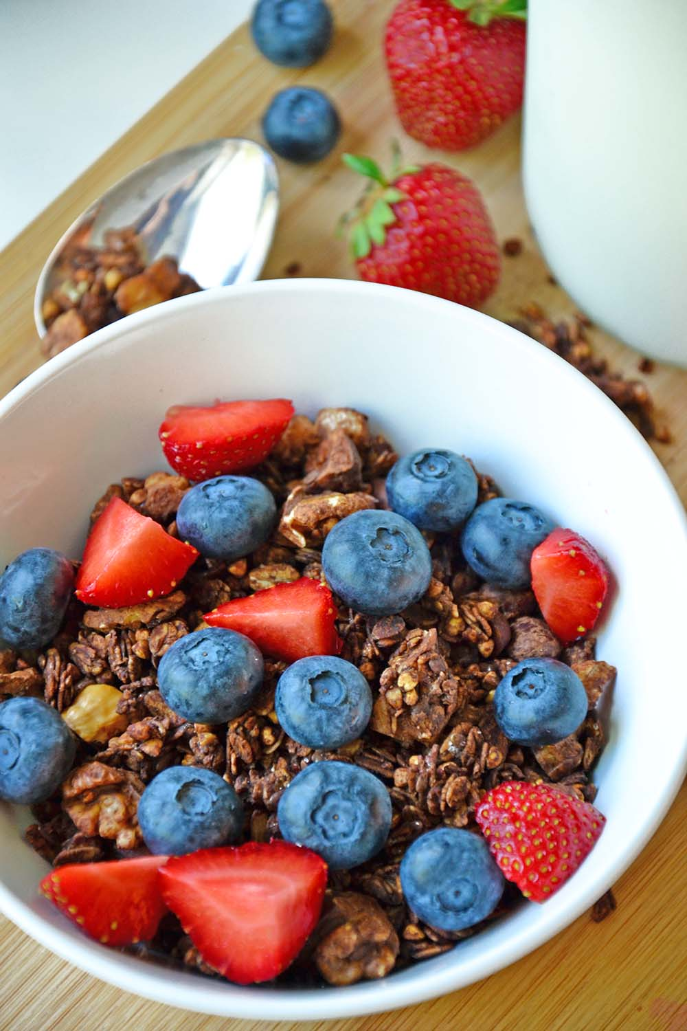 Crunchy chocolate buckwheat granola