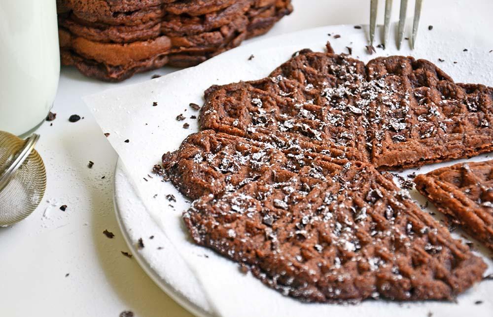 Spicy chocolate brownie waffles
