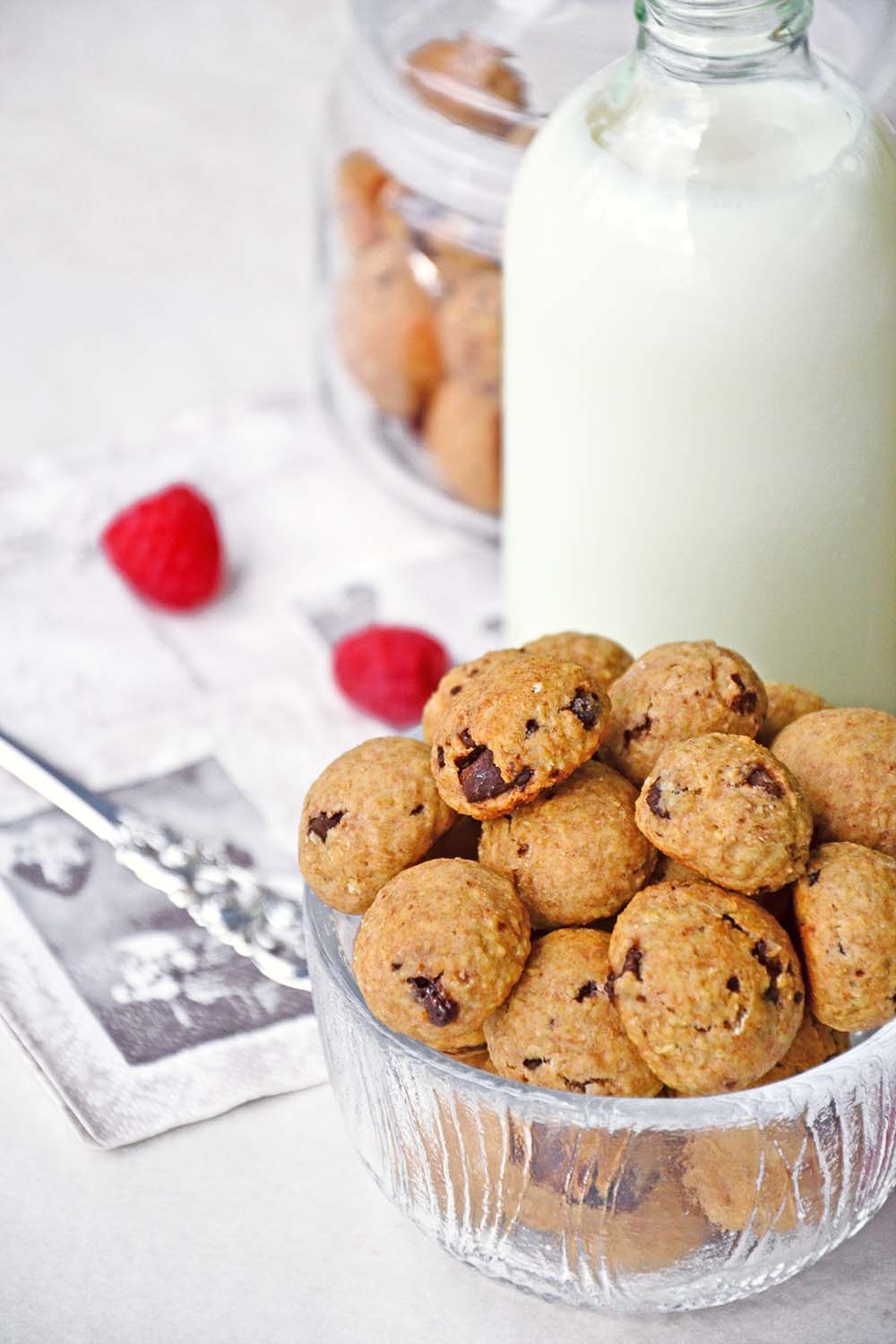 Oatmeal double chocolate chip cookie bites