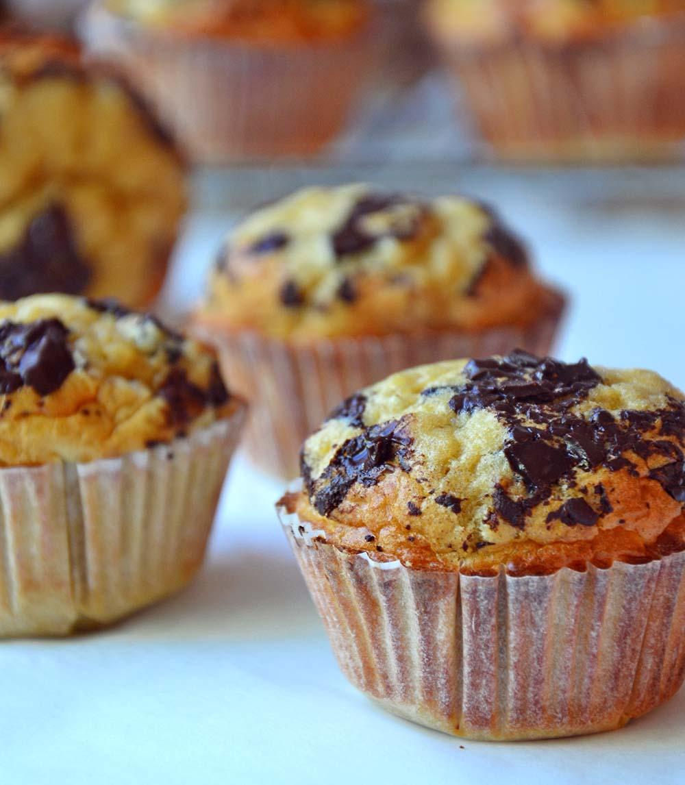 Peanut chocolate chip muffins