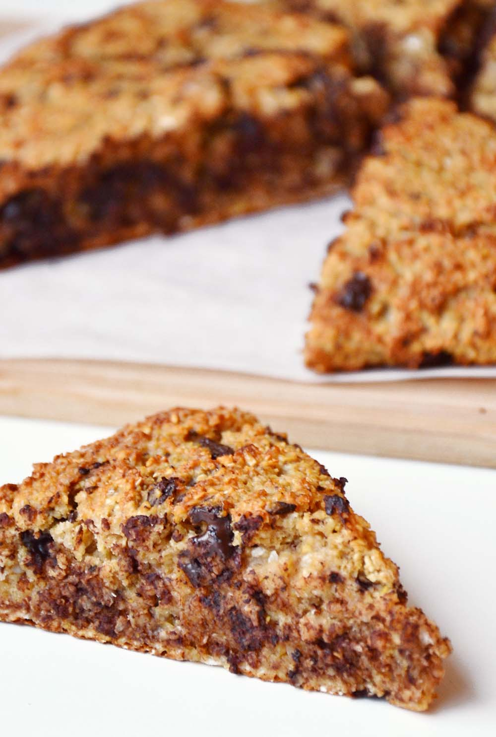 Oatmeal chocolate scones