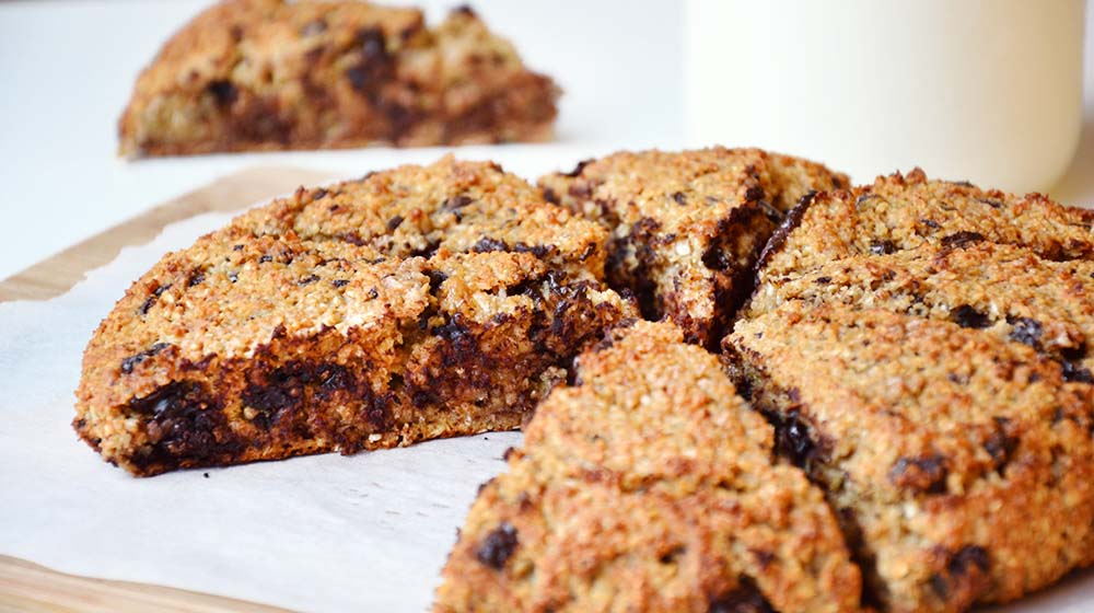 Oatmeal chocolate scones