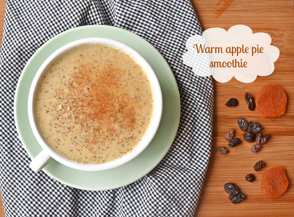 Warm apple smoothie
