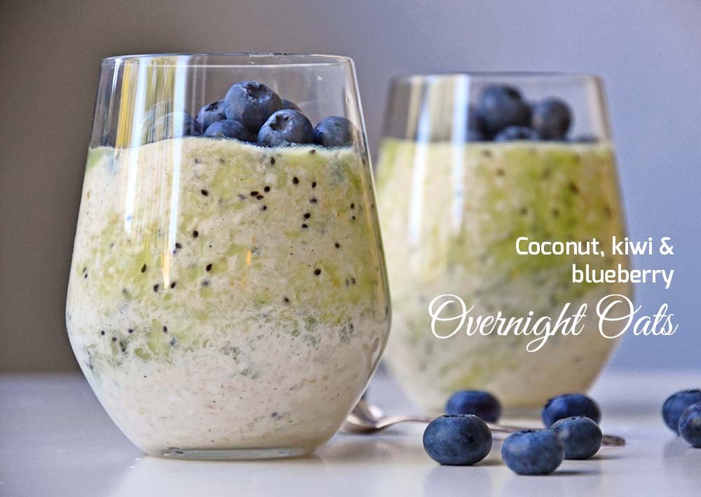 Kiwi blueberry overnight oats
